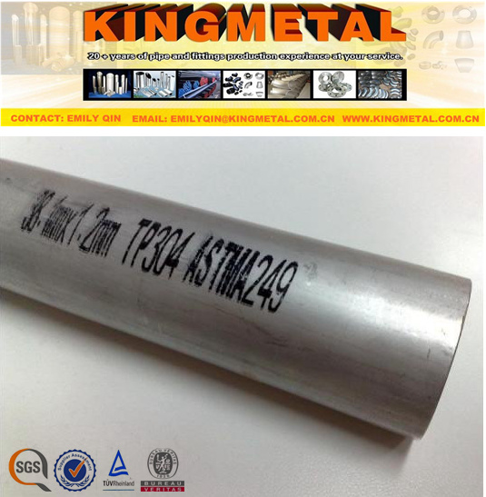 Welded A249 TP304 Heat Exchanger Stainless Steel Tube with Low Price