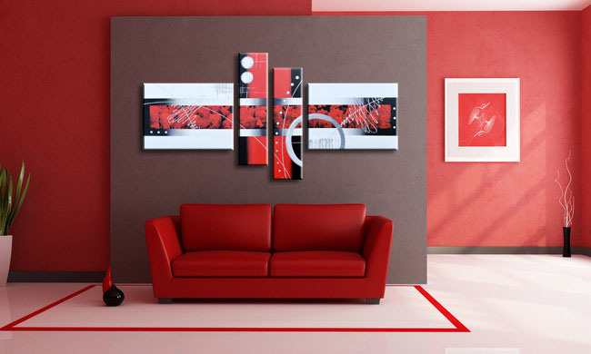 Handmade Modern Abstract Painting for Wall Art Decoration