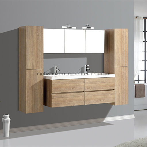 Hot Sale Bath MDF Furniture, Double Bowl Bathroom Vanities