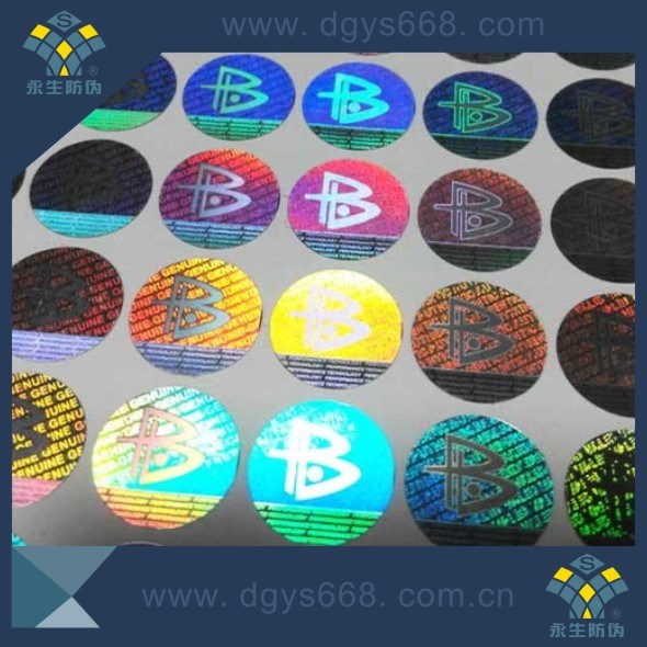 Best Security High Resolution Adhesive Hologram Effect Holographic Labels