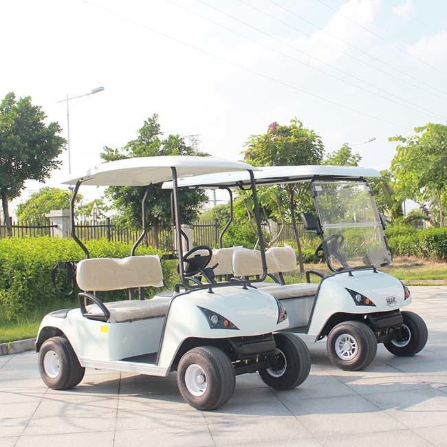 Ce Certificated 4 Seat Electric Four Wheel Cart for Golf Course Dg-C4