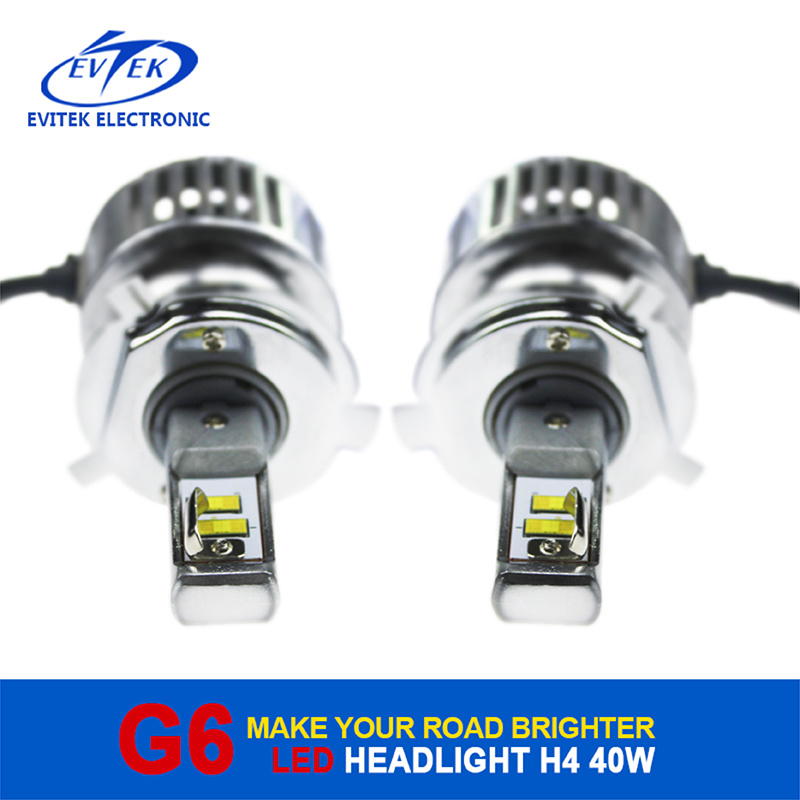 Evitek High Power LED Lighting G6 H4 40W 4500lm LED Headlight for Car/Truck