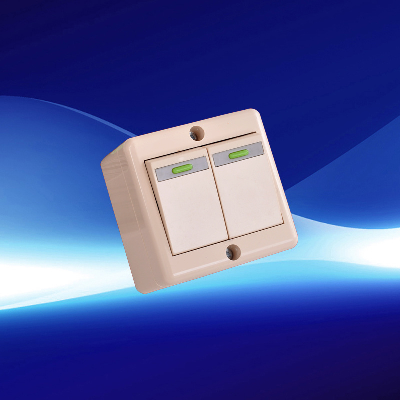 2 Gang European Wall Switch ABS Material (YW20201)