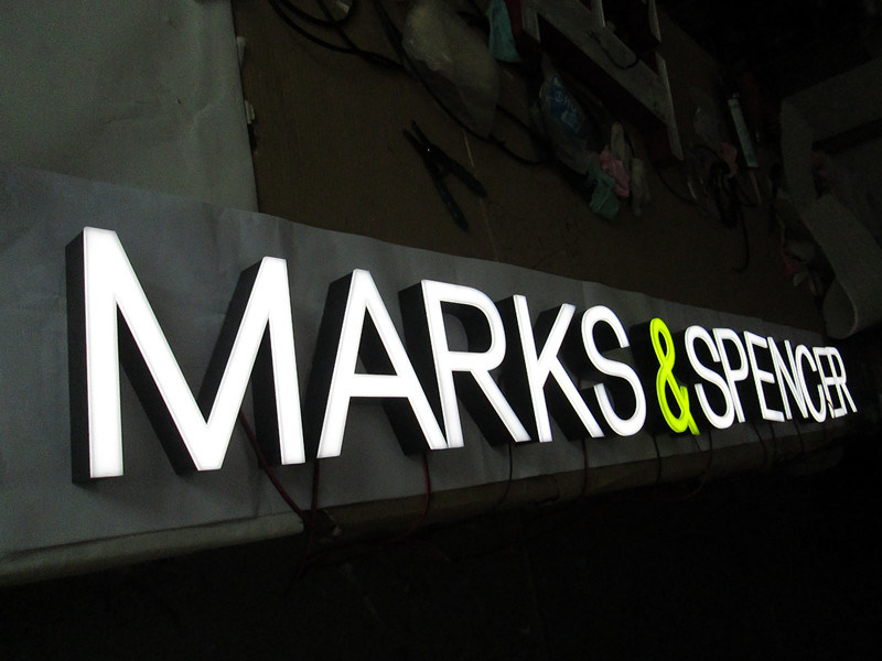 Acrylic Plastic Aluminum Fabricated 3D Front-Lit LED Illuminated Sign Neon Sign Channel Letter
