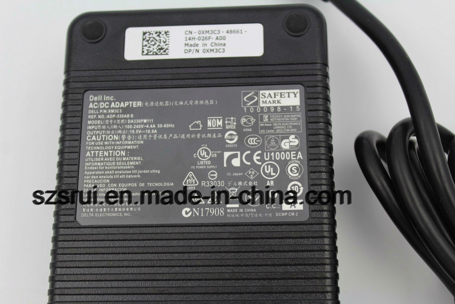 for DELL 330W 19.5V 16.9A Power AC Adapter Charger