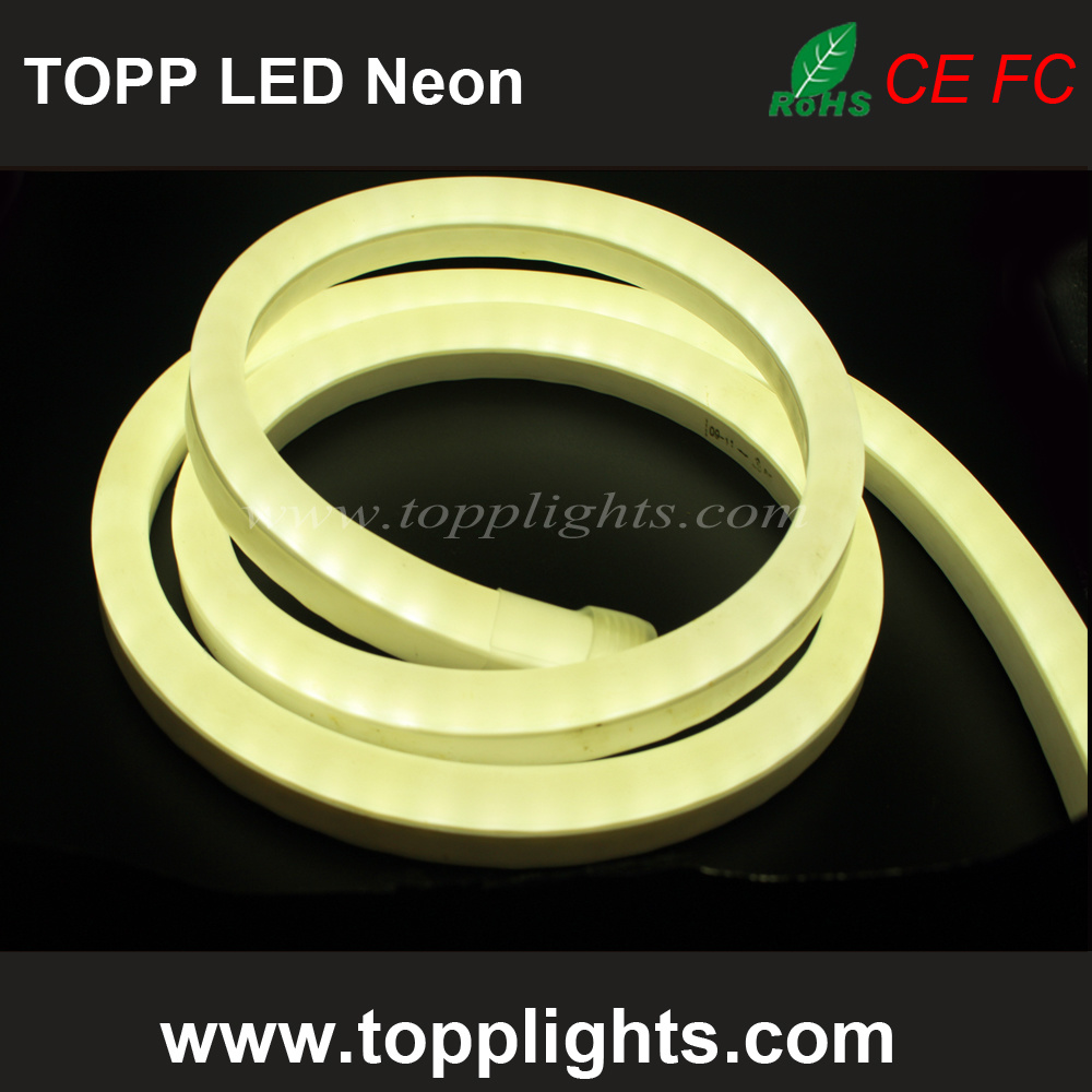 230V 120V 24V 12V Warm White LED Flex Neon Lights