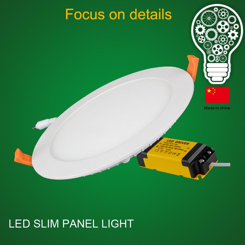 Saso/Bis High Lumens 225*225 18W Recessed Round Panel LED Light
