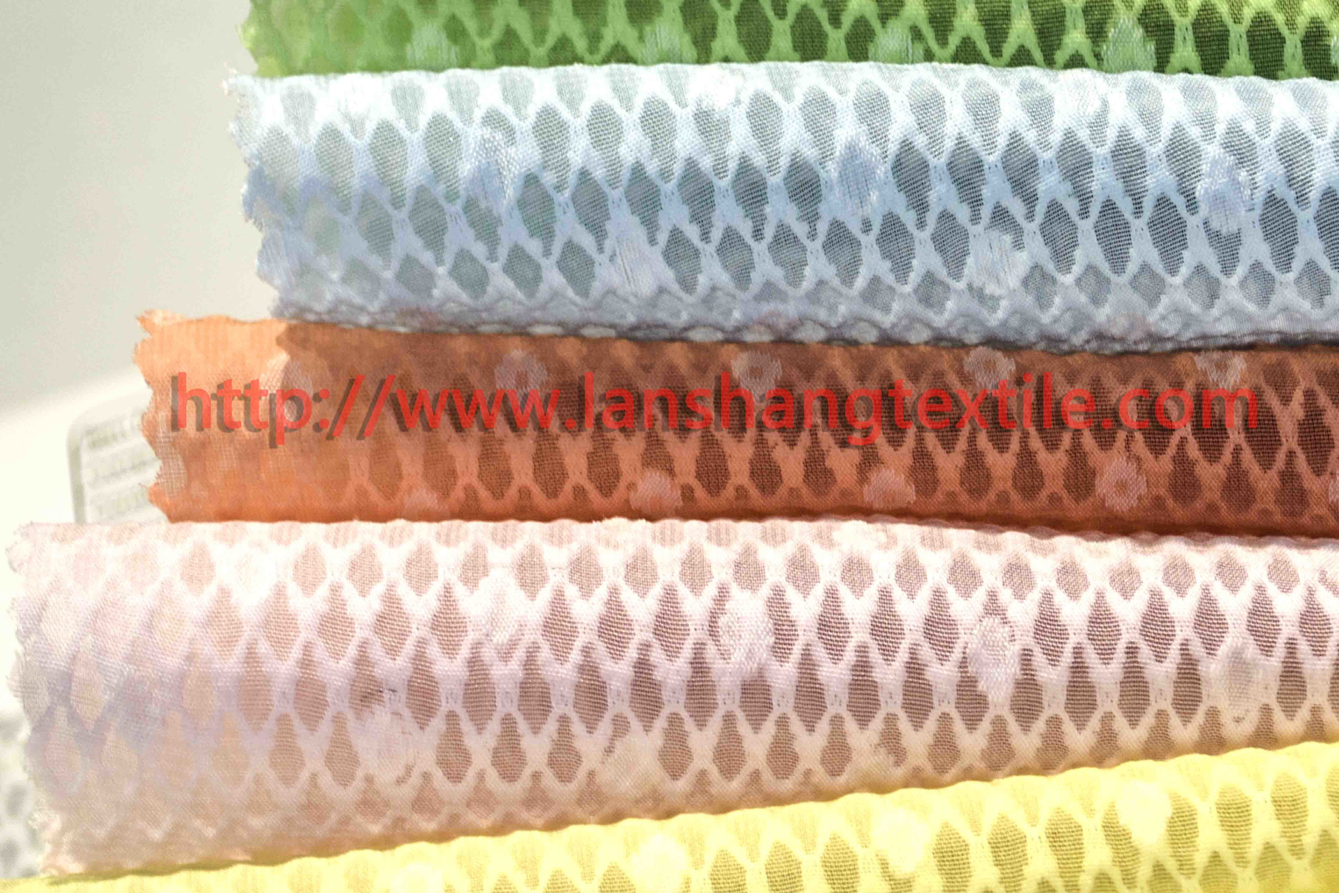 Dyed Jacquard Polyester Fabric for Woman Dress Home Textile