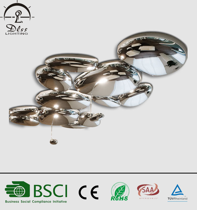 Contemporary Metal Acrylic Art Hotel Projects LED Ceiling Lighting