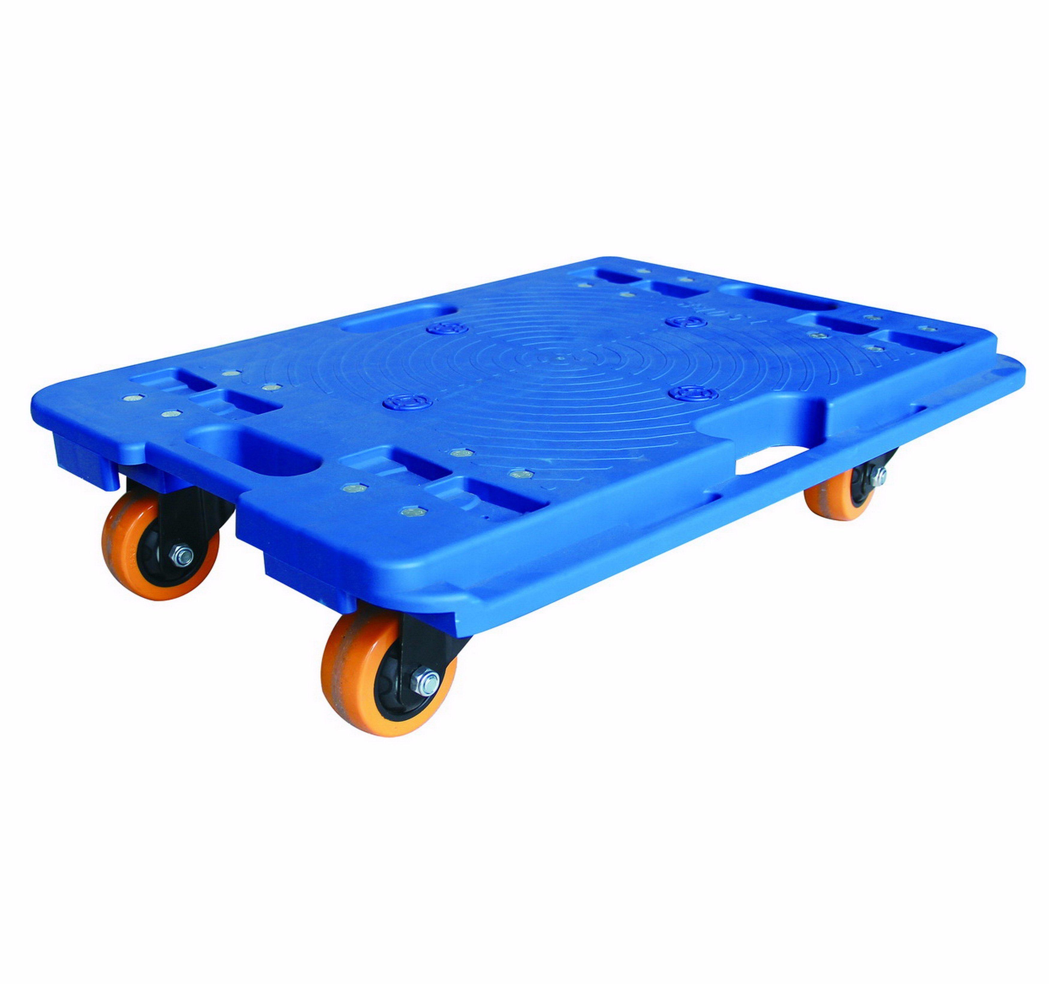 150kgs Blue Platform Turtle Trolley Industrial Pallet Handcart