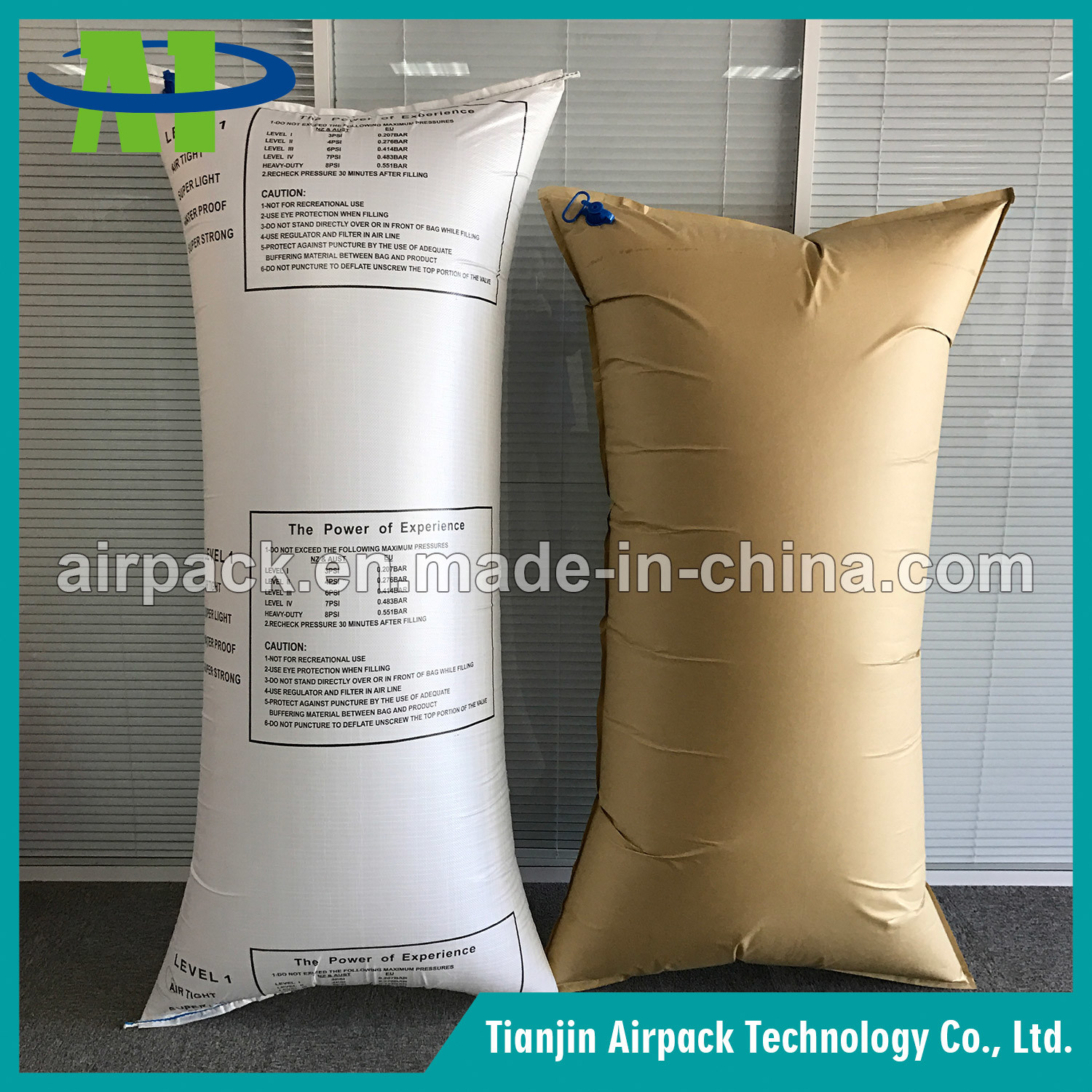 White PP Woven Inflatable Shock Absorber Protective Buffer Dunnage Air Bag
