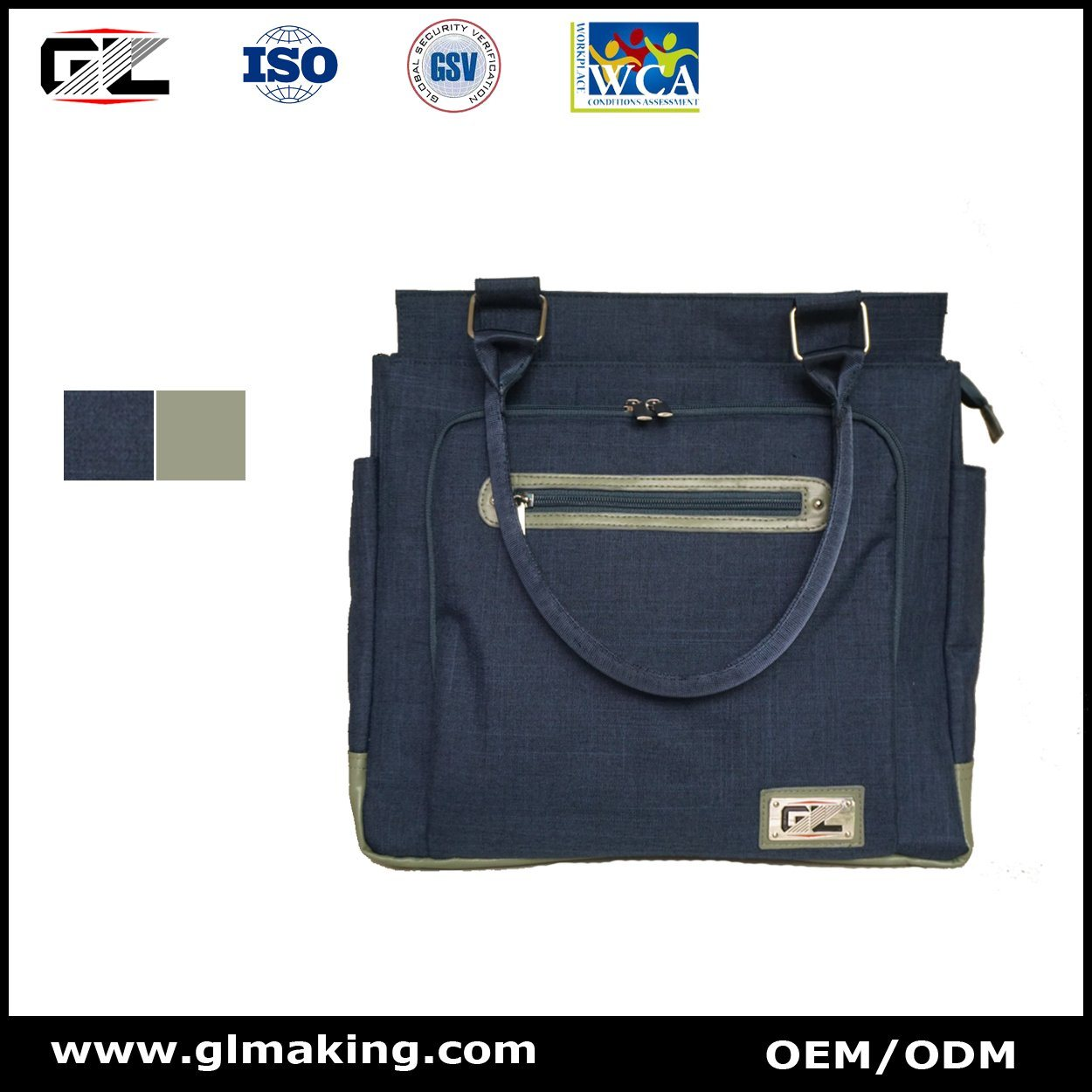 Fashion and Square Diaper Bag From Manufacturer