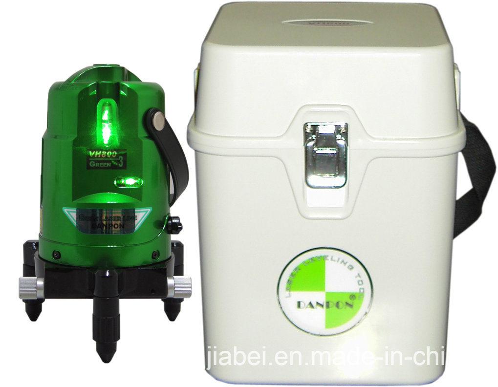 Green Beam Multi Line Self- Leveling Laser Level 2V1h Vh800