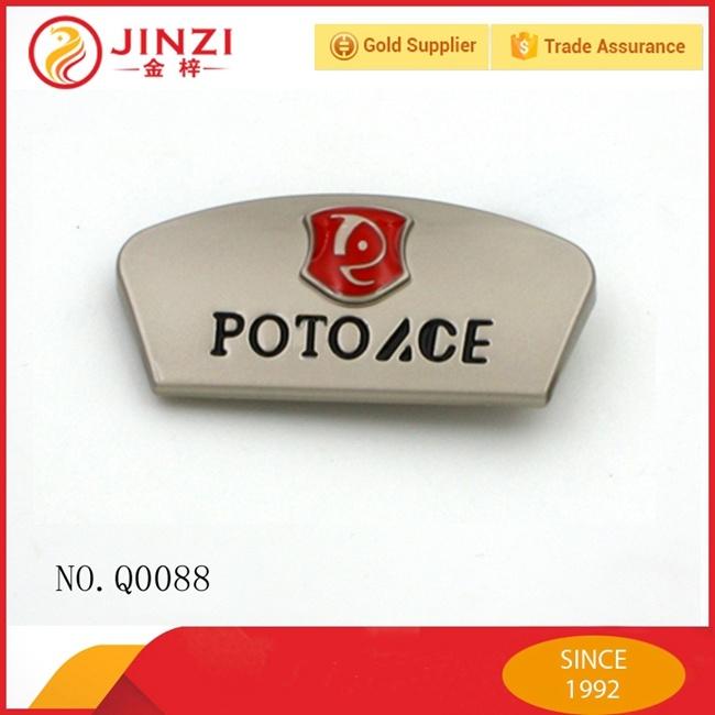 Custom Metal Plate Engraved Logo for Handbag