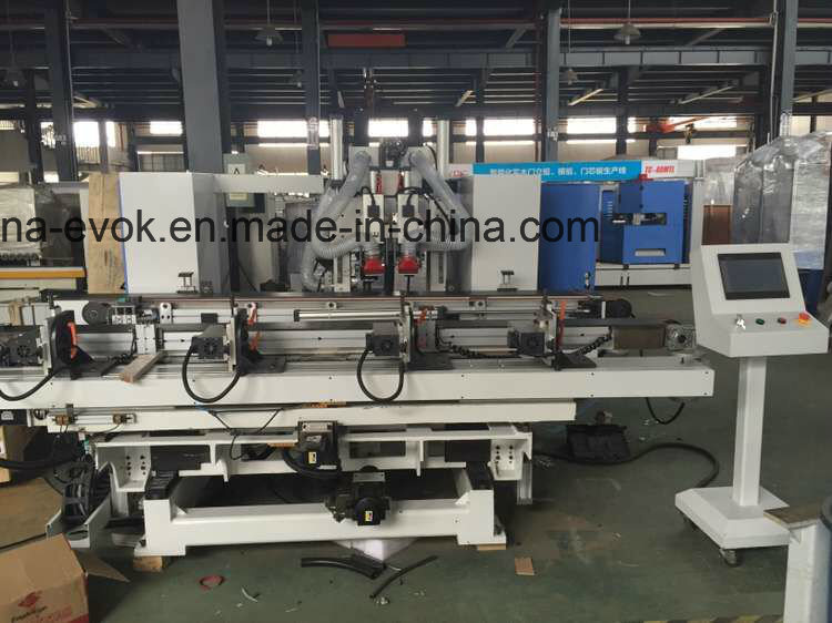High Speed Automatic Wood Door Lock Hole and Hinge Boring Machine Tc-60ms-CNC-a