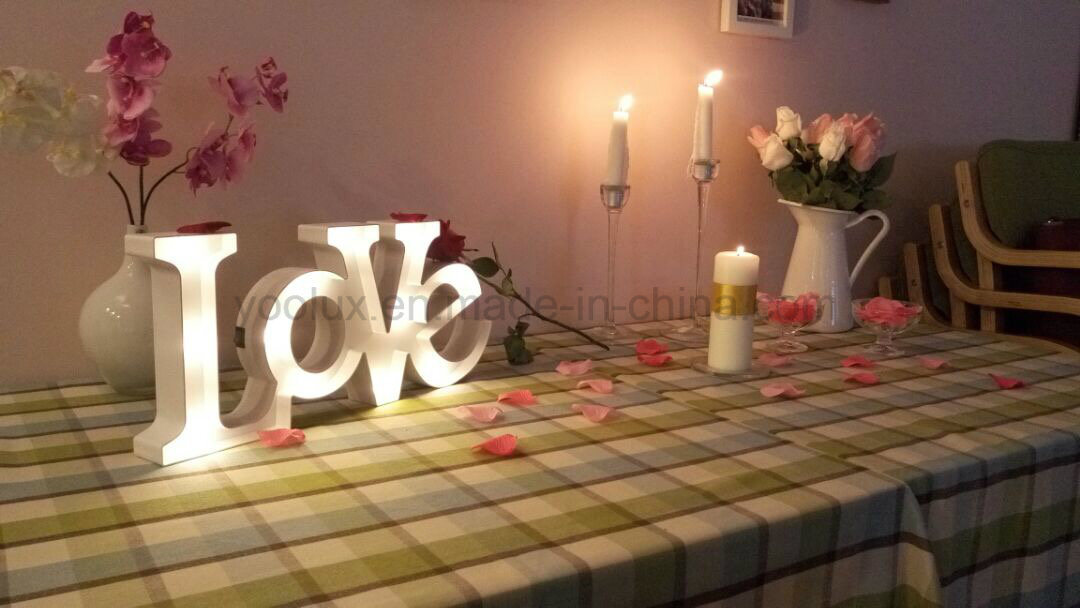 Home Decoration Heart LED Holiday Marquee Christmas Light