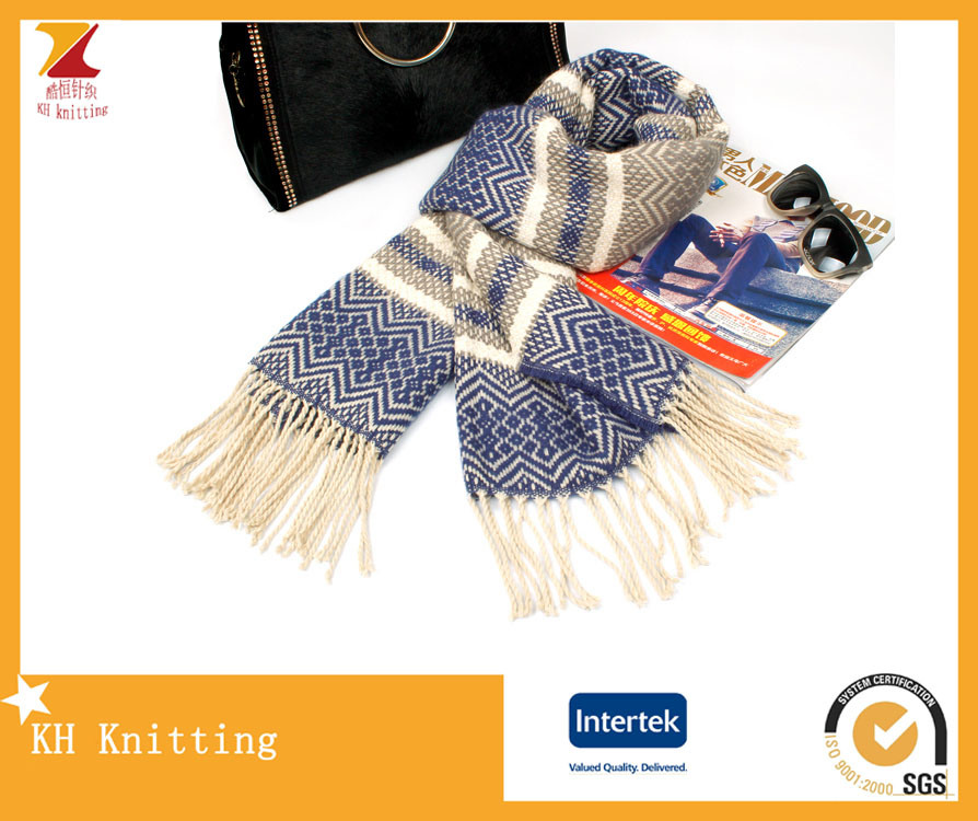 High Quality Jacquard Knitting Scarf for Women