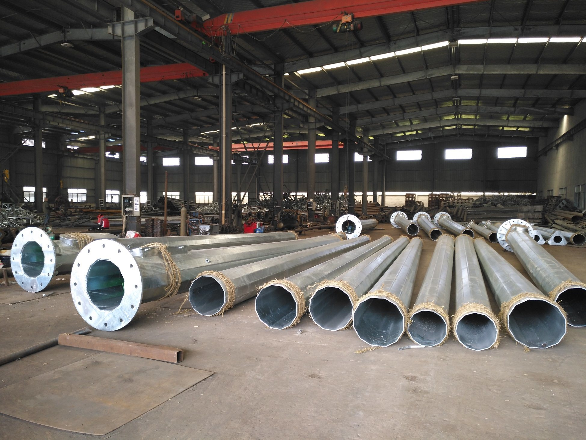 Hot DIP Galvanized Highmast Pole