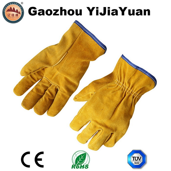 Ab Grade Cowhide Split Leather Safety Hand Protective Drivers Gloves