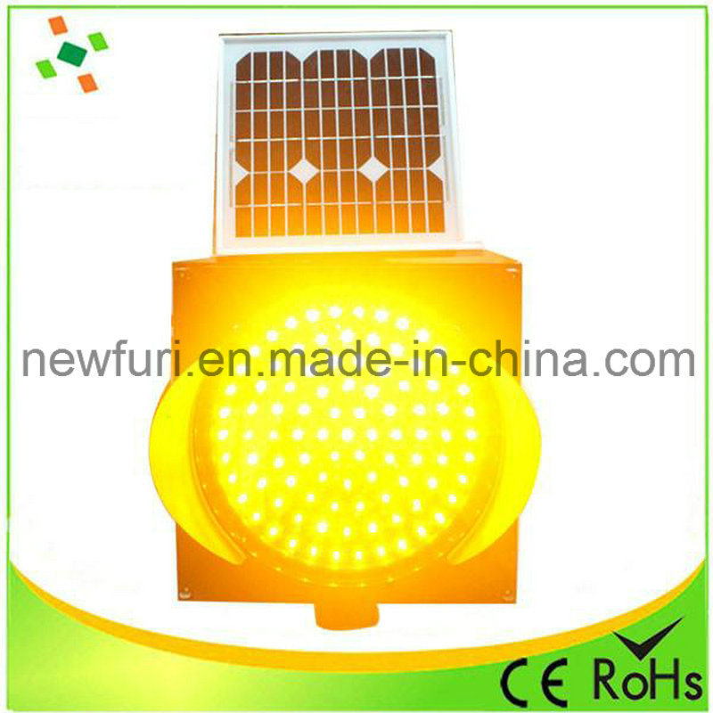 300mm Yellow LED Flashing Solar Traffic Warning Light