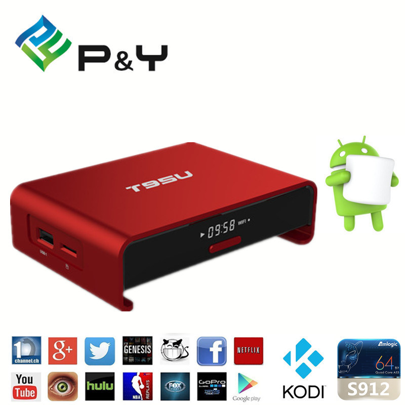Wholesale 4k Download Osn Pendoo T95u PRO Android6.0 Marshmallow 2g 16g Free to Air Set Top Box