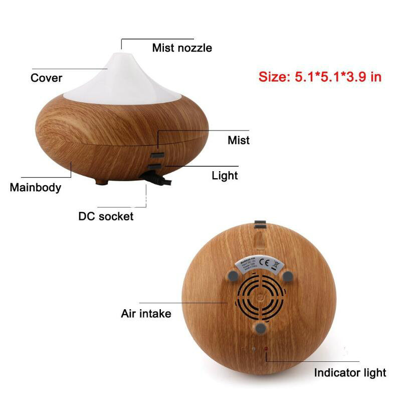 160ml Mini Portable Wooden Grain Diffsuers - 12V