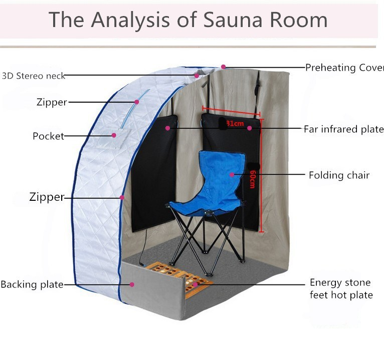 Portable Folding Sauna Room Health Care Far Infrared Sauna