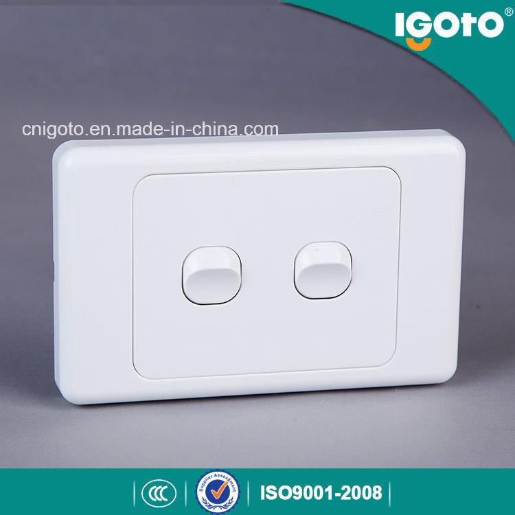 As304 New Zealand Standard 10A 2 Gang 2 Way Switch