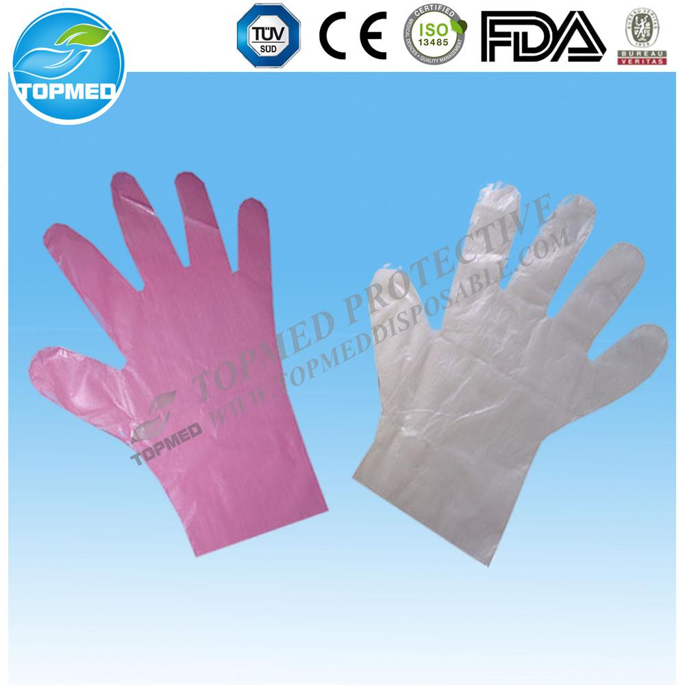 Transparent Disposable Plastic Gloves, LDPE Gloves
