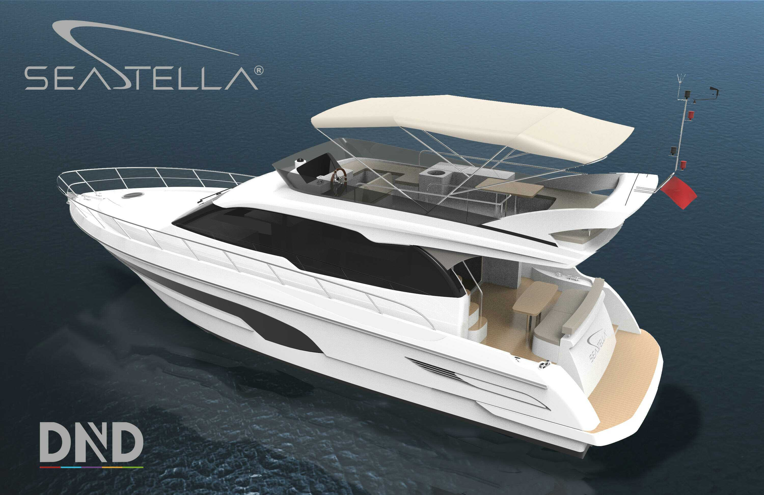 Seastella 55′ Luxury Motor Yacht with Flybridge