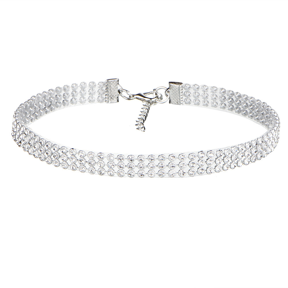 Fashion Women Full Diamond Crystal Rhinestone Chokers Necklace Wedding Jewelry