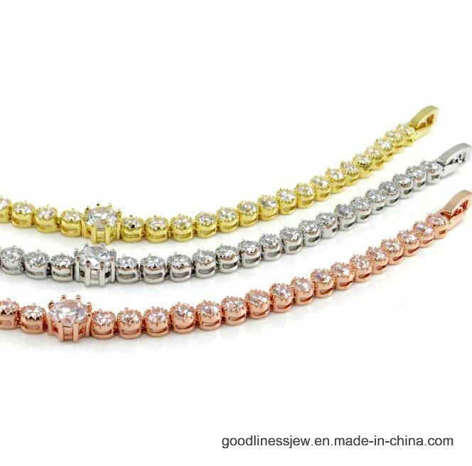 Bling Bracelet AAA Cubic Zirconia Bracelet Wholesale (Bt6538)