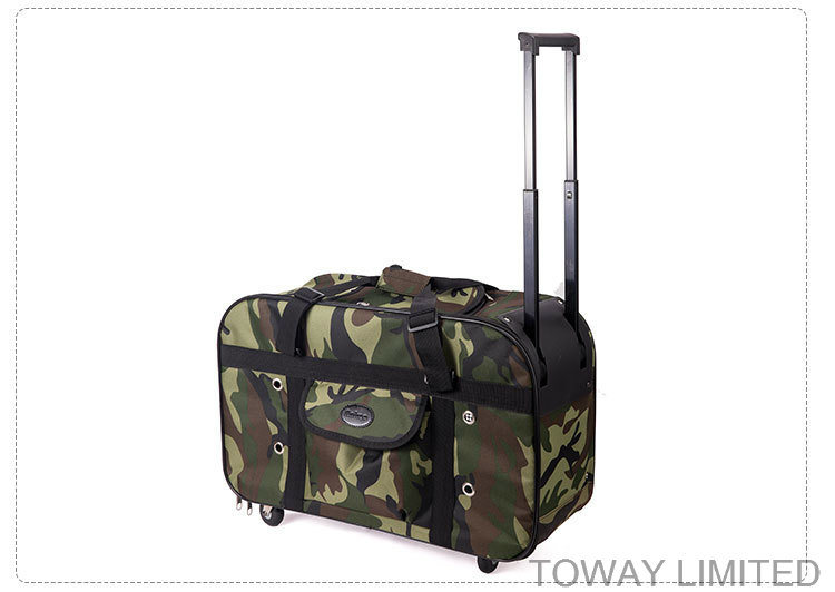 Design Quality Dog Carriers Camouflage Portable Draw-Bar Pet Bags