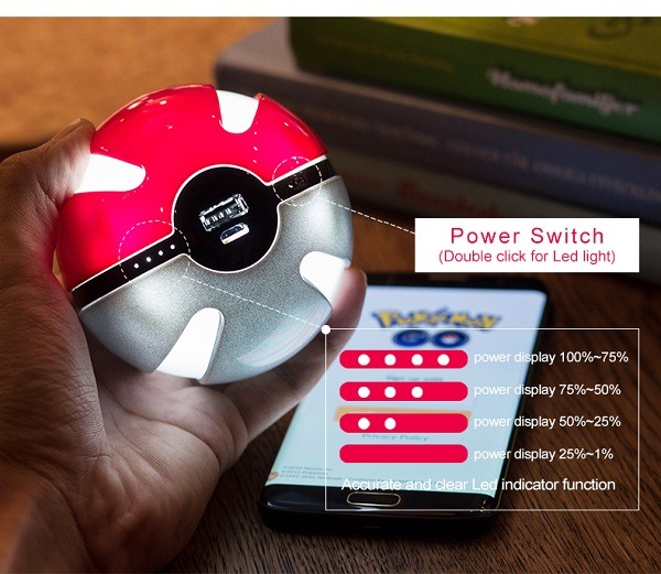 2016 Hot Selling Unique Power Bank Lithium Polymer Fast Charger with LED Light