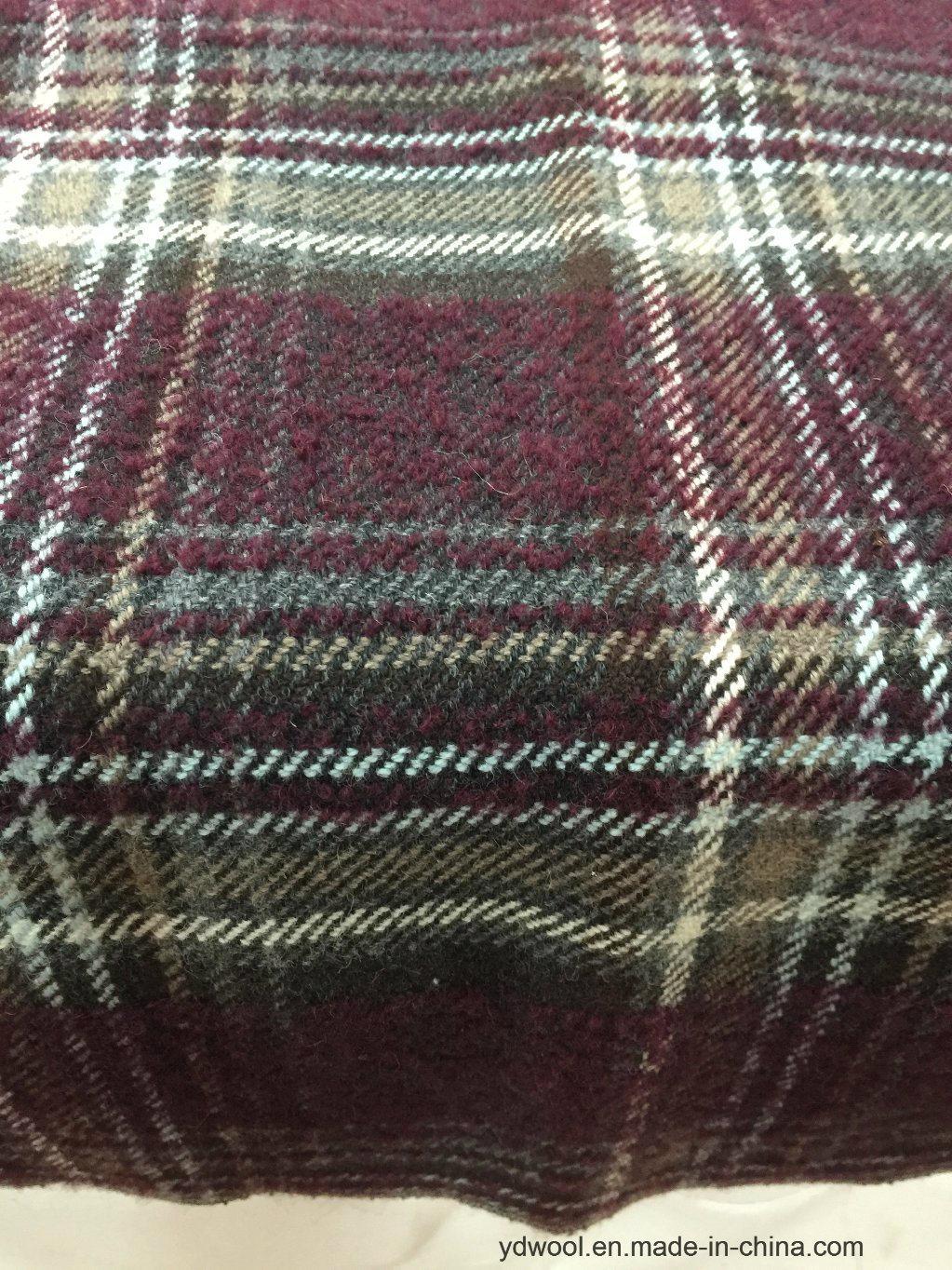 Stock Wool Fabric Check Korea Style