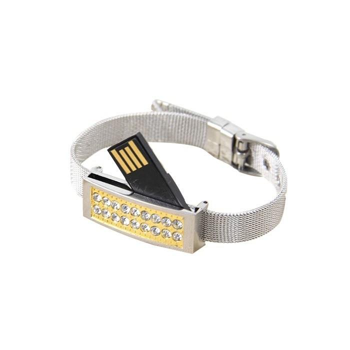 Full Capacity 16GB Jewelry USB Flash Drive Watch Memory Stick