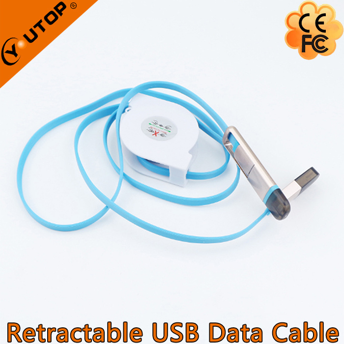 Custom Logo Retractable USB Data Charging Cable