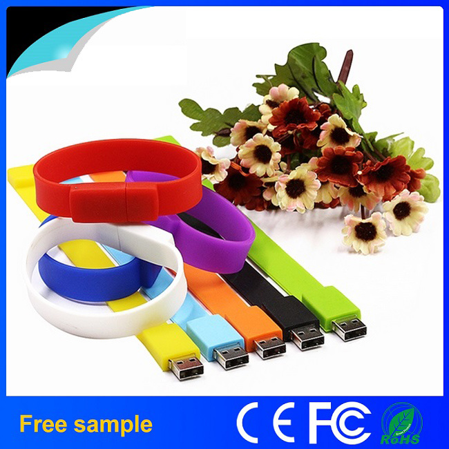Customized Wrist Band USB Pendrive Bracelet USB Memory Stick