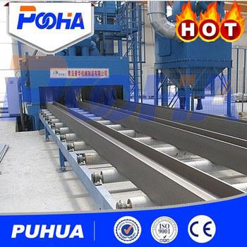 Q69 Pass-Through Roller Conveyor Shot Blasting Machine for H-Beam Cleaning