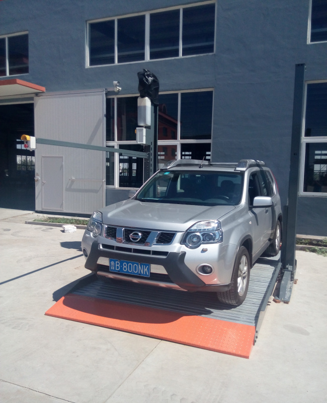 2 Stopping Vehicle Parking Lift