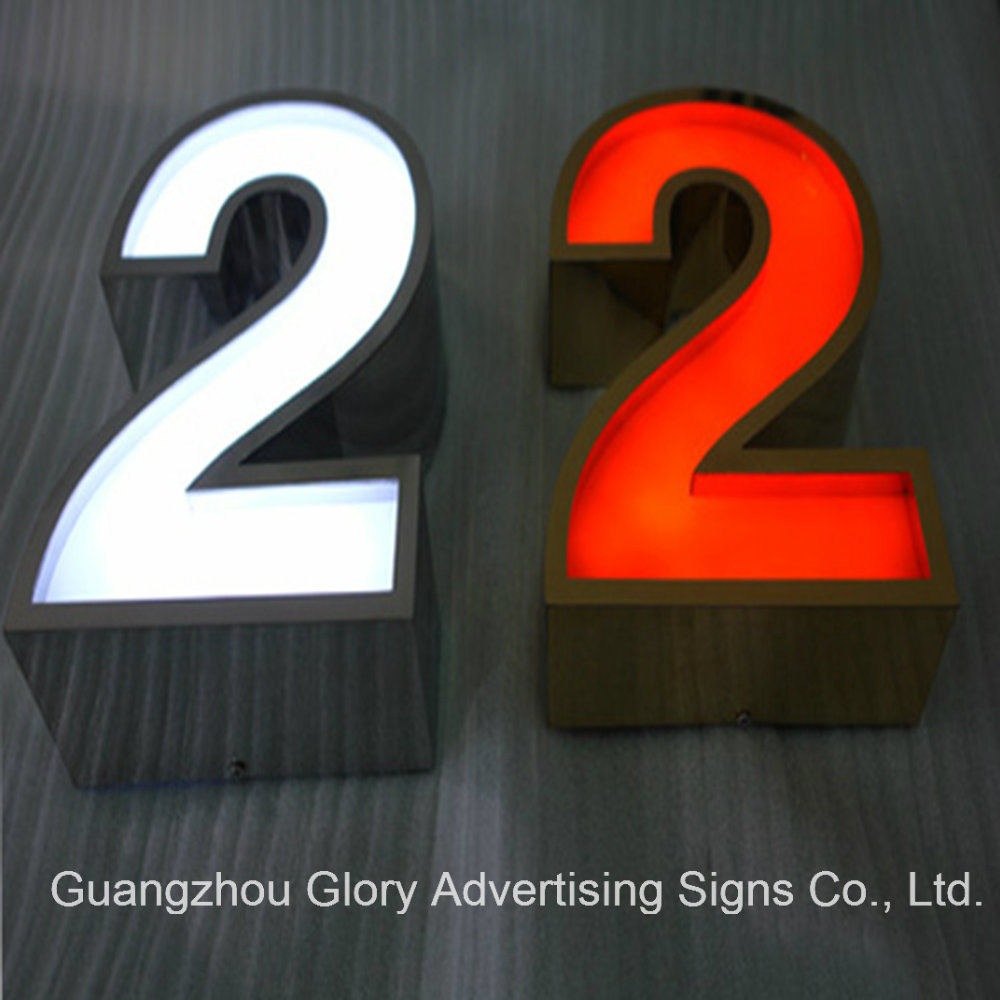 Brushed Ss Channel Letter Signboard/LED Sign Board