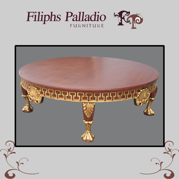 China Italian Wooden Furniture Solid Wood Handwork Carving Table 1108 China Table