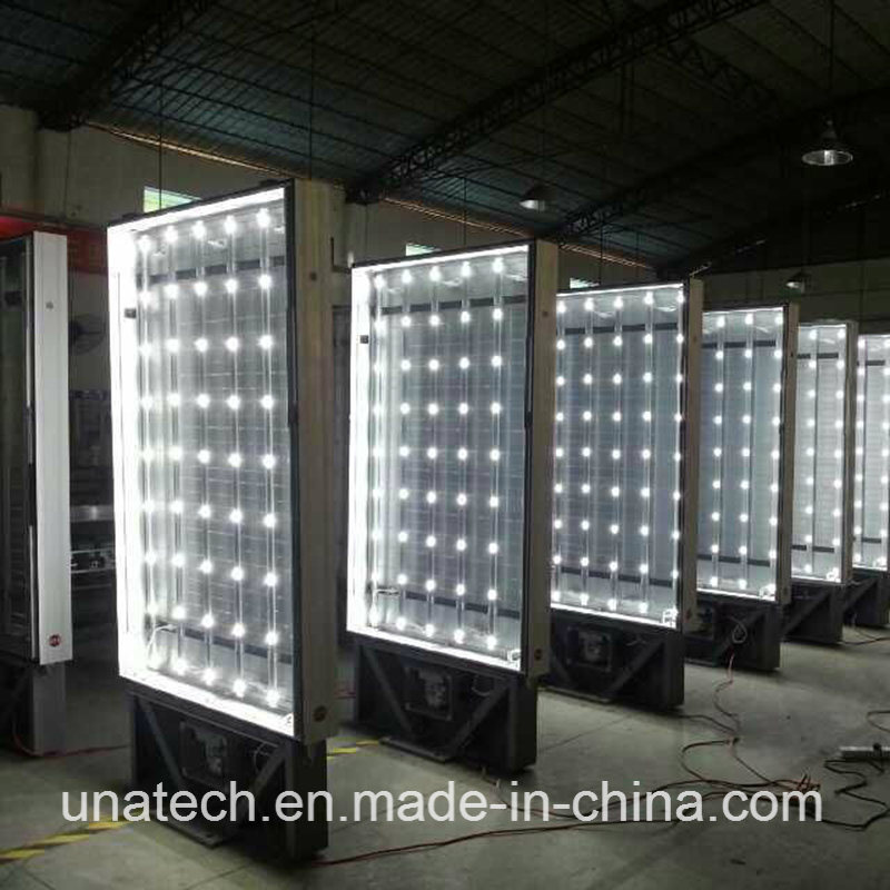 Outdoor Advertising Car Showrooms Promotional Billboard LED Bulb Back Mupis Scrolling PVC Light Box