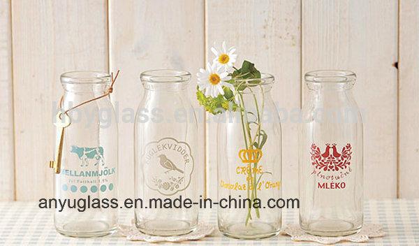 Glass Milk Bottles with Swing Top Cap for Beverqage