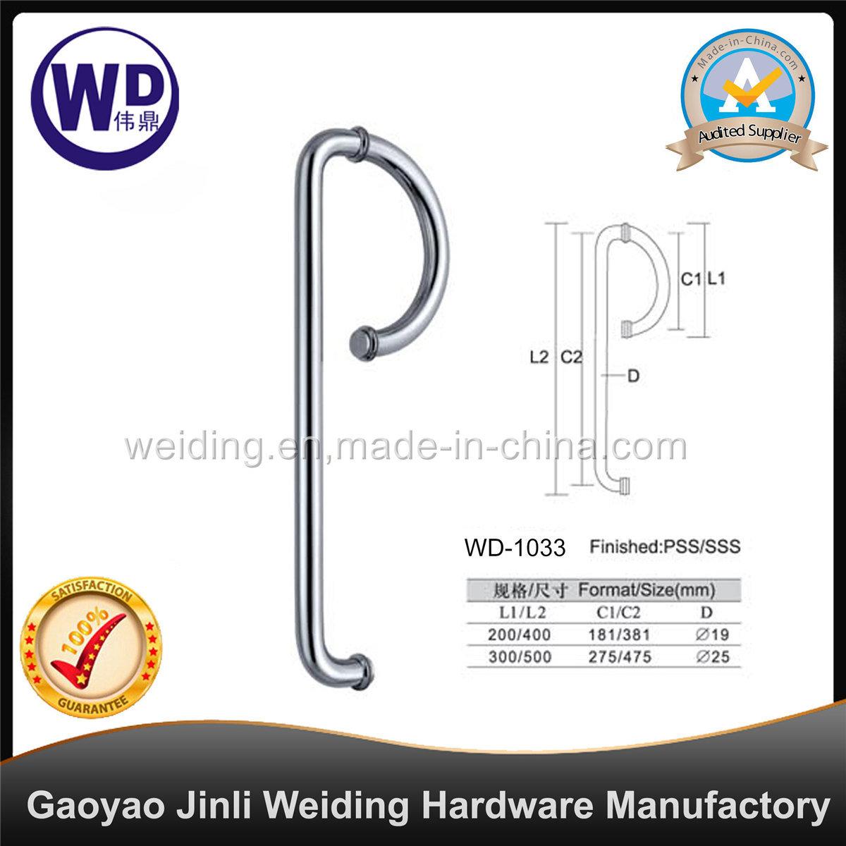 Stainlesss Steel Glass Door Shower Handle Wd-1033