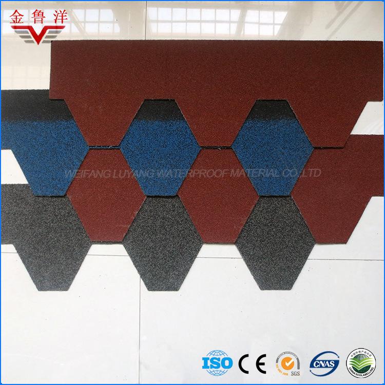 Mosaic Type Colorful Asphalt Shingle, Colorful Roofing Tile