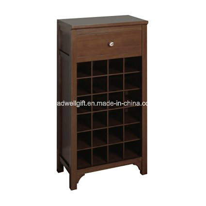 Winsome Trading Winsome Wood Wine Cabinet, Walnut Includes Drawer
