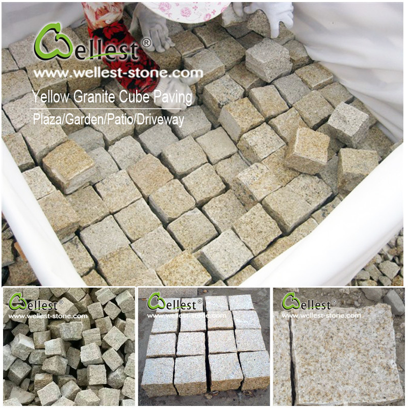 Granite/Basalt/Slate/Bluestone Cobble Stone Cube Stone for Walkway/Driveway/Parking Pavers/Paving