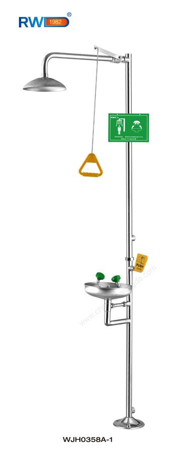 Safety Equipment, 304 Stainless Steel Emergency Shower & Eye Wash