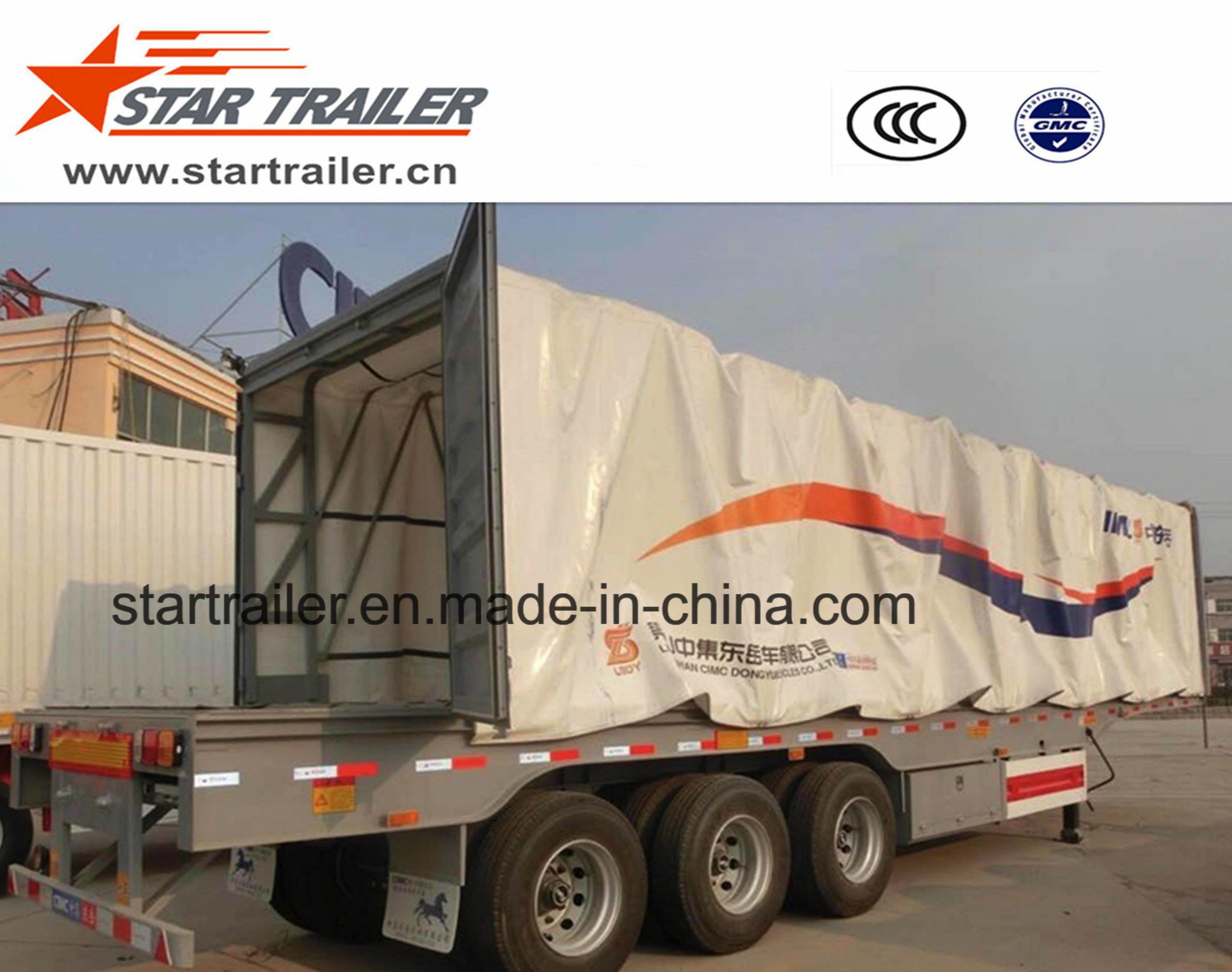 3 Axles Curtain Side Semitrailer